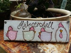 pastel - + Lovingly painted door sign with chickens and the inscription chicken coop + * Chickens can be pur - Chicken Painting, Diy Projects For Beginners, Bedroom Murals, Painted Doors, Coops, Door Signs, Decorative Objects, Art Boards, Decoupage
