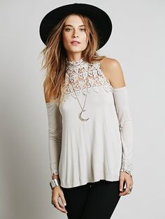 Free People FP X Mildred High Neck Top at Free People Clothing Boutique