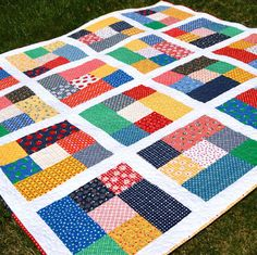 Short Cut Quilt featuring fabrics designed by Amy Smart for Riley Blake Designs