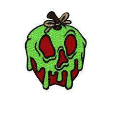 Disney Poison Apple Iron-On Craft Patch Classic Snow White Accessory Applique