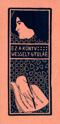 Ex libris by Kálmán Rozsnyay for Wessely Gyula, 1904