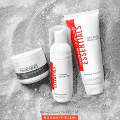 Your summer routine in 3 easy steps Exfoliate with Microdermabrasion Paste Apply Foaming Sunless Tan Maintain with Daily Body Moisturizer Rodan And Fields Consultant, Summer Skin, Moisturiser, Skin Care Regimen, Good Skin, How To Apply, Store, Fashion Studies, Health Care