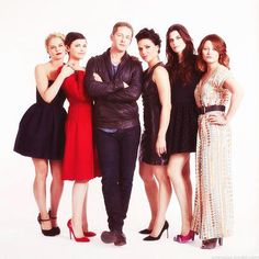 Josh Dallas and his harem!  ;)