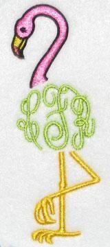 Flamingo Frame Embroidery Design | Apex Embroidery Designs, Monogram Fonts & Alphabets