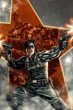 Marvel Comics has announced an ongoing Winter Soldier series by Ed Brubaker and Butch Guice to launch in February with covers by Lee Bermejo. Comic Book Artists, Comic Book Characters, Marvel Characters, Comic Character, Comic Books Art, Comic Art, Marvel Comics, Ms Marvel, Winter Soldier Bucky