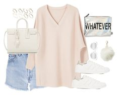 """""""Untitled #3100"""" by theaverageauburn on Polyvore featuring Levi's, MANGO, ASOS, adidas, Quay, Circus by Sam Edelman, Yves Saint Laurent and Charlotte Russe"""