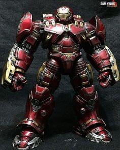 Is The Marvel Legends Hulkbuster. Paint by Marvel Dc, Marvel Comics, Iron Man Fan Art, Marvel Cinematic Universe, Batman Universe, Iron Man Suit, Fly Guy, Custom Action Figures, Marvel Legends
