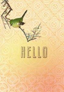 wenskaart met vogel Hello
