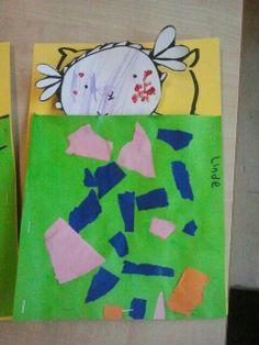 Week 2 thema Hatsjoe Werkje Puk of Nijntje of kind zelf laten tekenen, is ziek. In bed liggen en een deken maken met papier of lapjes. De deken op een ander vel papier laten maken en erop nieten. Dit werkje sluit aan bij werkje groep 2 zieke in bedje ruimtelijk.