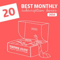 20 Best Monthly Subscription Boxes of 2016- ranked by category. This is an…