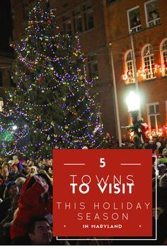 Experience a taste of Christmas past in five Maryland towns.