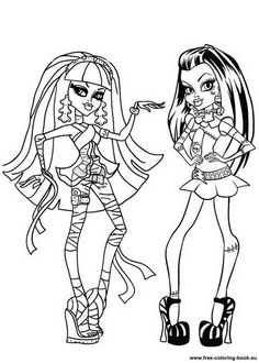 Cleo De Nile Shopping Coloring Pages | monster high coloring ...