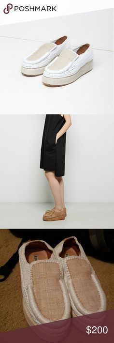 cb18097a38cf Acne Studios Laurie Raffia platform loafer Beautiful shoes! Gently worn and  in great condition.