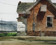 """2008, Sky Wires by Joseph Alleman Watercolor ~ 16"""" x 20"""""""