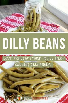 Dilly beans (AKA pickled beans) give you some variety in the pantry. Learn how to make and preserve dilly beans with this guide from #SimplyCanning #dillybeans #pickledbeans Dilly Beans Canning Recipe, Canning Recipes, Pickled Green Beans, Pickled Carrots, Easy Dinner Recipes, Easy Meals, Corn Relish, Canning Vegetables, Dried Beans