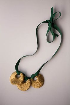 DIY Gilded Crescent Bib Necklace - Nearly Crafty - anthro inspired