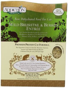 Addiction Raw Dehydrated Grain-Free Cat Food, Brushtail and Berries, *** Learn more by visiting the image link. (This is an affiliate link and I receive a commission for the sales) Grain Free Cat Food, Best Cat Food, Stuff For Free, Dehydrated Food, Pin Image, Image Link, Entrees, Cat Lovers, Grains