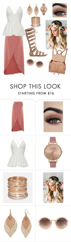 """""""Untitled #208"""" by ruthyb513 on Polyvore featuring Topshop, Olivia Burton, Avenue, Emily Rose Flower Crowns, Bold Elements, Linda Farrow and Urban Originals"""