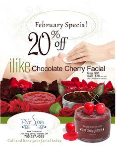 advertising for Pür Spa Gel Mask, Sour Cherry, Chocolate Cherry, Print Design, Advertising, Spa, Marketing, Cake, Ideas