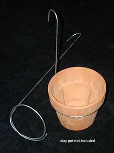 For hanging clay and plastic pots off a wall, post, hook or railing. Expands slightly but best used with four and five inch pots. We find them to be a great way to hang and display plants grown in our Plastic Neofinetia Pots. Hanging Flower Pots, Hanging Planters, Pot Hanger, Wall Hanger, House Plants Decor, Plant Decor, Flower Pot Design, Plastic Pots, Exotic Plants