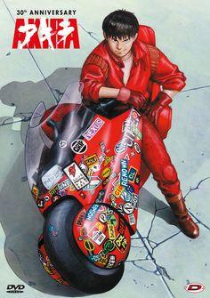 AKIRA Kaneda & the legendary bike Manga Anime, Fanarts Anime, Manga Art, Anime Art, Comic Books Art, Comic Art, Akira Poster, Akira Kaneda, Akira Anime