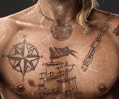 tattoo, assassin's creed, and edward kenway image Assassins Creed Tattoo, Asesins Creed, Assassin's Creed Wallpaper, Edwards Kenway, Compass Tattoo, Deathly Hallows Tattoo, Teaser, Tatting, Flag