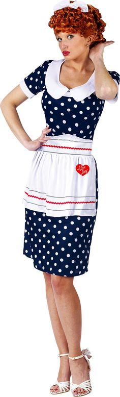 Adult Sassy I Love Lucy Costume This Officially Licensed I Love Lucy costume is sure to be a big hit at any party! Costume Includes Dress Apronu2026  sc 1 st  Pinterest & Adult Sassy I Love Lucy Costume This Officially Licensed I Love Lucy ...