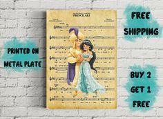 Disney Alladin Prince Ali Music Art Metal Print-Alladin And Disney Art, Ali, Prince, Handmade Gifts, Metal, Music, Poster, Stuff To Buy, Free
