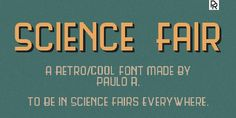 Science Fair free font