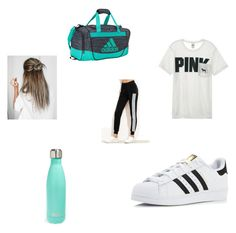 """Untitled #54"" by alysse-cherrington on Polyvore featuring Victoria's Secret, adidas and S'well"