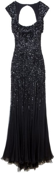 elie saab Backless Sequin Gown - Lyst