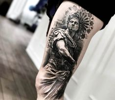Julius Caesar tattoo by Mark Wosgerau
