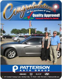 Congratulations to Alicia Adams on her new 2011 Dodge Charger! - From David McArthur at Patterson Auto Center.