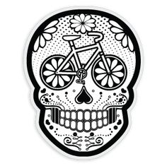 Mexican skull bicycle design for the bike/slaughterama fans