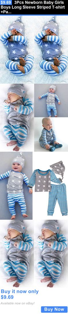 Baby Girls Clothing: 3Pcs Newborn Baby Girls Boys Long Sleeve Striped T-Shirt +Pants Outfits Clothes BUY IT NOW ONLY: $9.69 Cute Baby Boy Outfits, Cute Baby Clothes, Kids Outfits, Little Boy Fashion, Kids Fashion, Baby Girl Newborn, Baby Girls, Baby Girl Skirts, Newborn Outfits