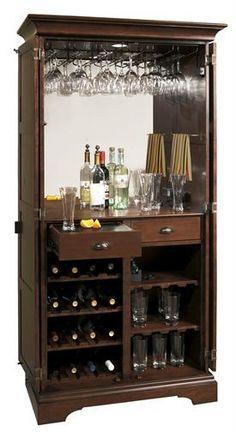 Ridgeville Wine & Bar Cabinet - Open