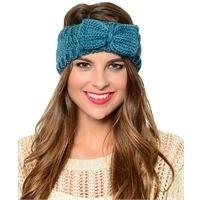 Knitted Headwrap $12 www.maceeleigh.com/#clairesmith #knittedheadwrap #bowknitheadwrap #earmuff #maceeleigh