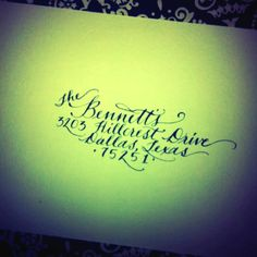 Calligraphy by Kathleen - find me on Facebook