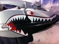 Custom hand painted jet ski