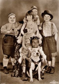 Our Gang: Joe, Mary Ann, Wheezer, Harry, Jean, Farina, and Pete.