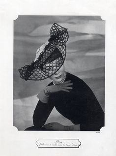Albouy (Millinery) 1948 Fashion Photography Hat