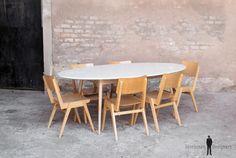 Table de repas/conférence ovale