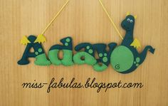 Baby name felt DRAGON - Nombre bebe DRAGON en fieltro
