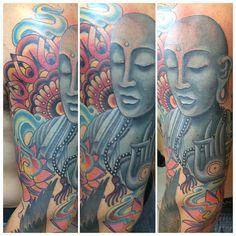 #InstaSize #nofilter finished this guy , now just filler @mj_beaton is #god #followhim at @mbtattoos he's a fuckin #beast #ink #inked #inkaddict #inkedguys #tats #tattoo #tattoos #tattooporn #guyswithink #guyswithtattoos #igtattoos #instagood #spiritual #spiritualtattoo #buddha #buddhatat #colortattoo #beauty #gorgeous #godisgood #followme #likemyshit