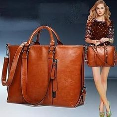 Tote Handbags, Leather Handbags, Leather Bags, Pu Leather, Ladies Handbags, Vintage Leather, Tote Bags, Cowhide Leather, Tote Purse