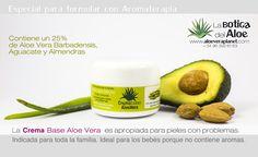 Crema base de Aloe Vera