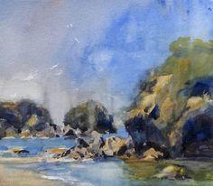 Jim McVicker     Luffenholtz Rocks 9x10 watercolor