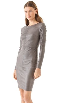 Robert Rodriguez leather dress. Love the style would prefer black.