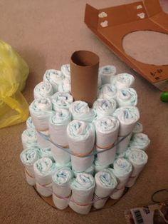 Wishes do come true...: How to make a Diaper Cake