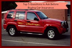 Car Insurance Tips - Five Questions to Ask Before Buying